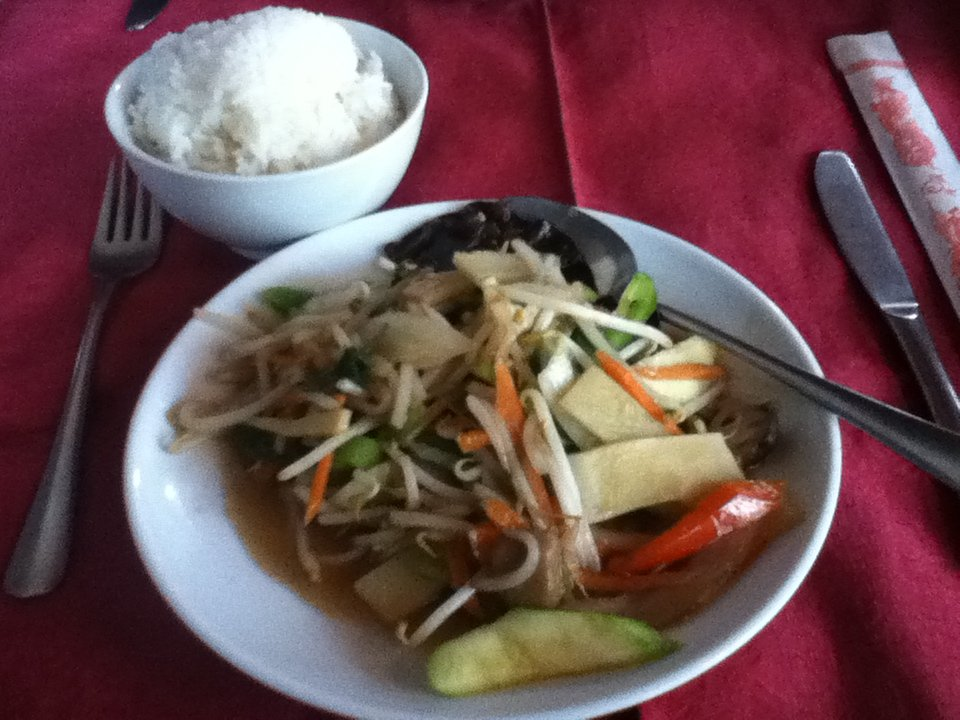 Sautéed Chinese vegetables - vegan in Normandy
