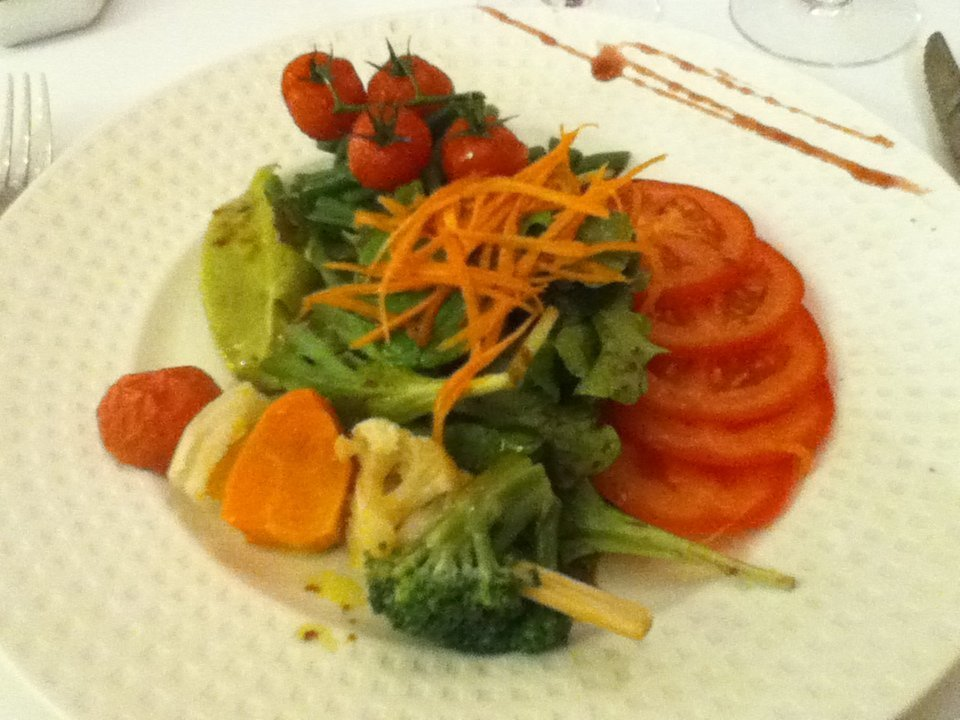 Bespoke vegan meal at Chateau de Bellefontaine - vegan in Normandy