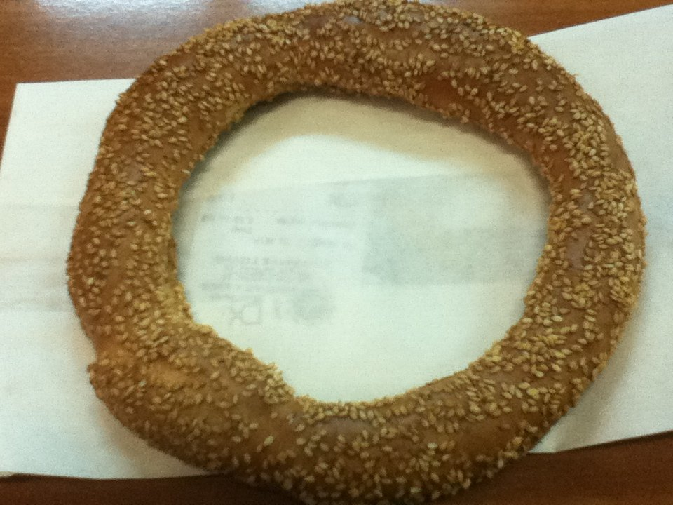 Koulouria - Greek sesame bread ring