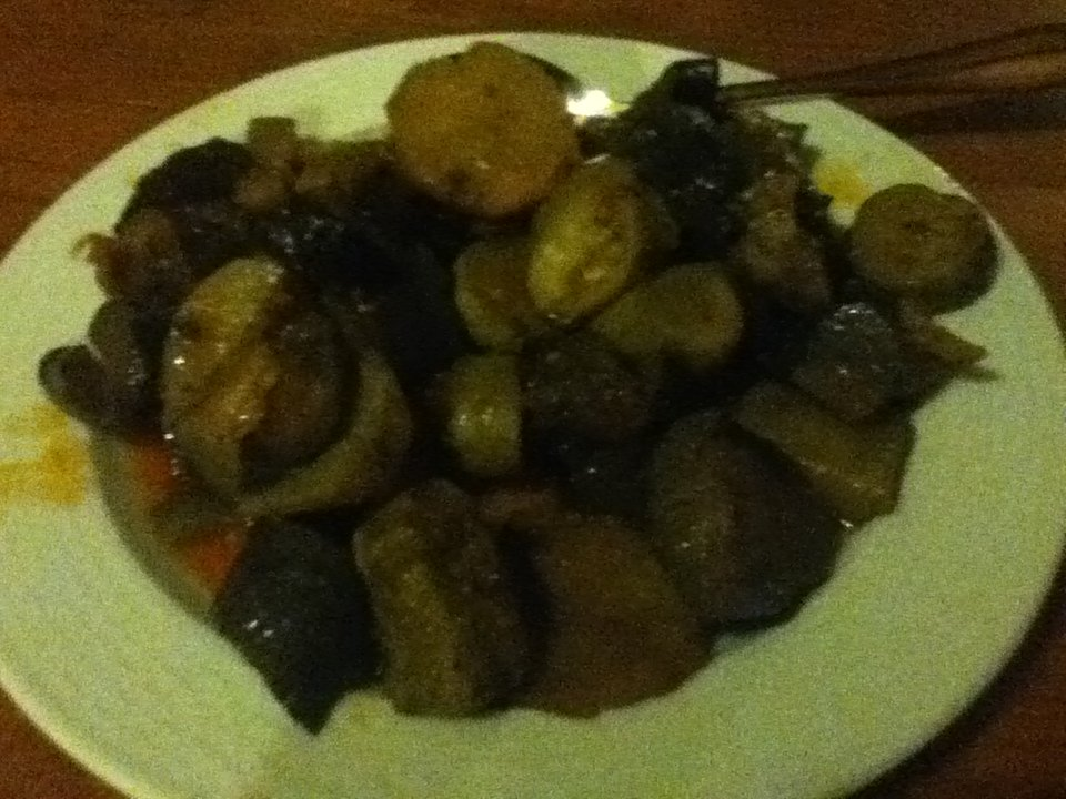 Brian (vegan eggplant, potato and zucchini dish) in Mikro Papingo, Greece