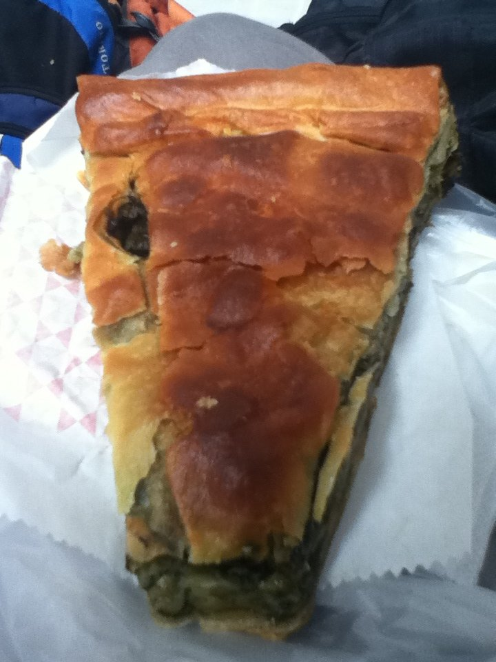 Spanakopita (vegan spinach pie) in Lamia, Greece