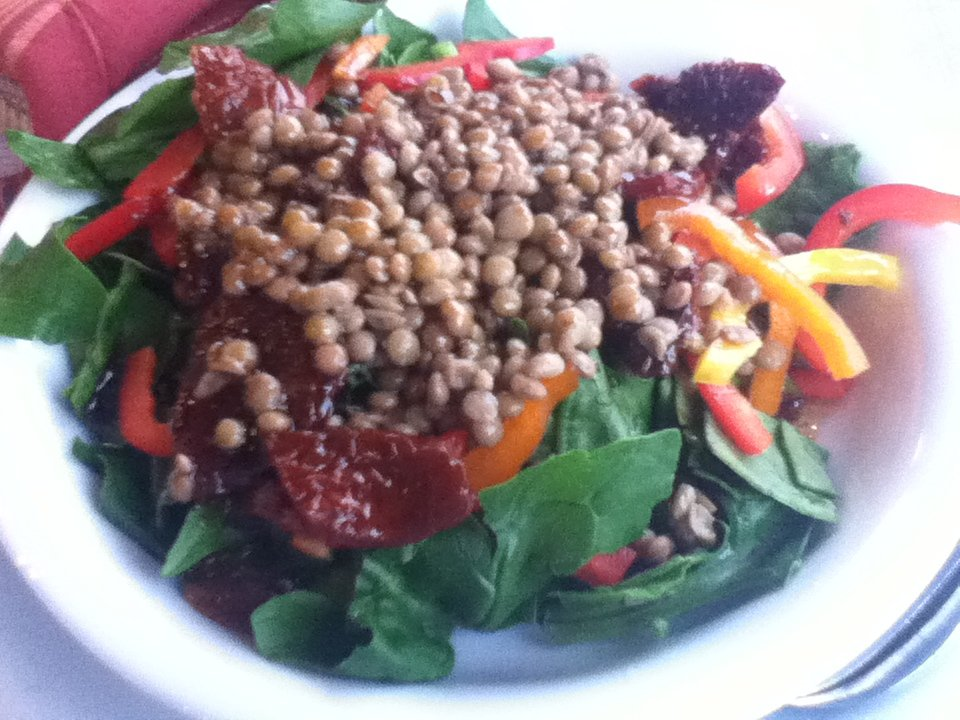 Lentil salad at Taverna Vakhos, Delphi, Greece