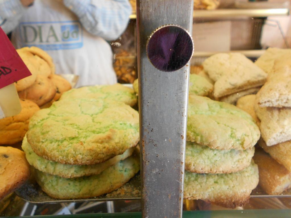 Vegan pistachio coconut cookies in Burano, Venice, Italy