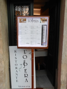 Vegan-friendly Ristorante L'Opera in Venice, Italy