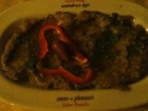 Melitsanosalata (eggplant dip) at vegan-friendly Skala Restaurant in Oia, Santorini