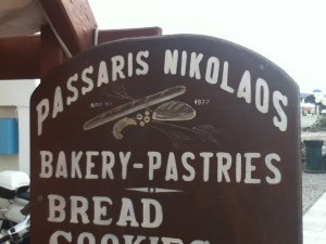 Passaris Nikolaos bakery in Oia, Santorini