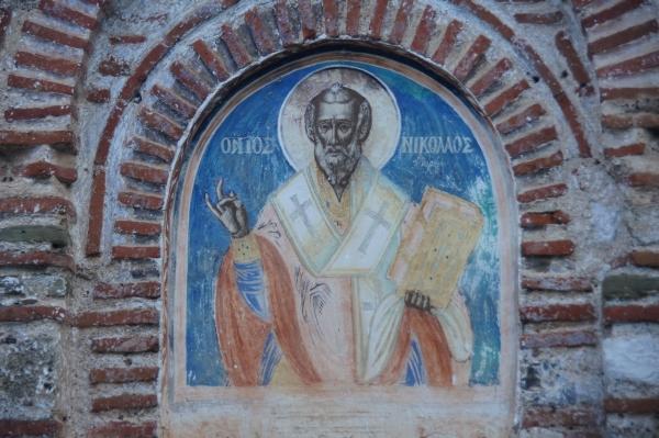 Vegan travel in Ioannina_Monastery Fresco