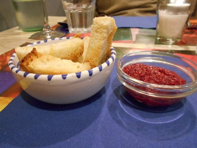 Beetroot dip at Le Comari Inn, Siracusa, Sicily