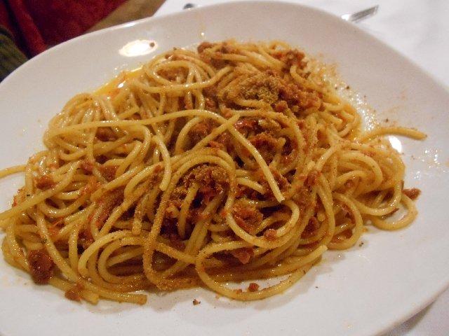 Vegan pasta al capuliato