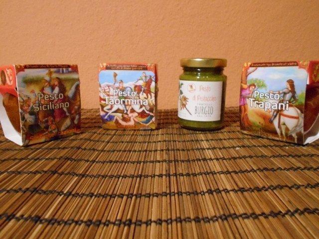 Sicilian pesto sauces