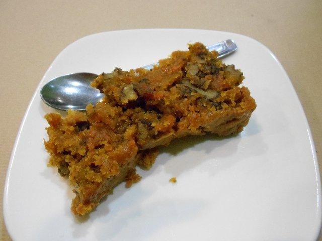 Walnut and carrot cake