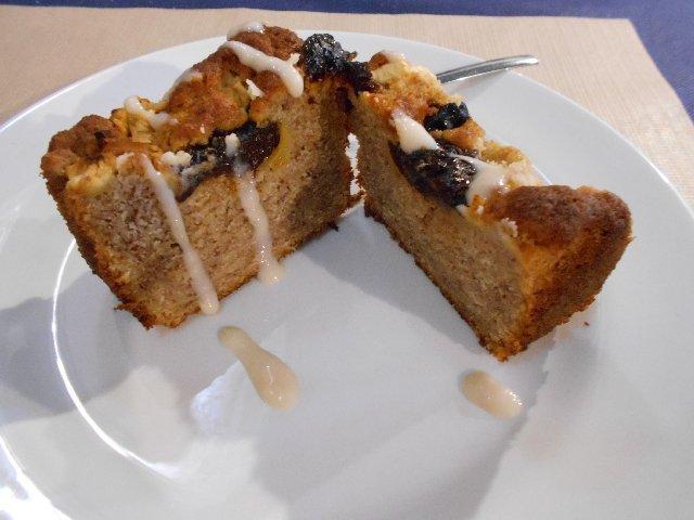 Apple plum cake