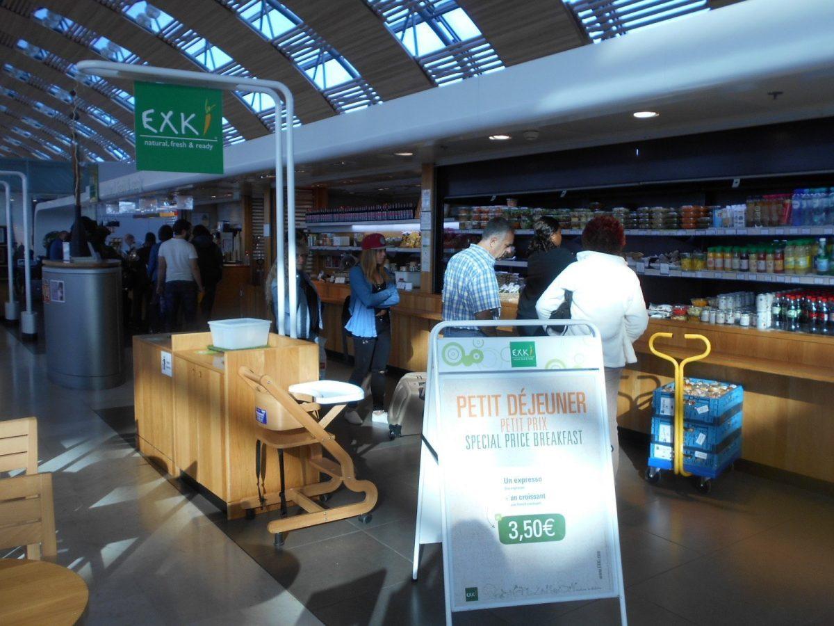 Exki - vegan food at Charles de Gaulle airport