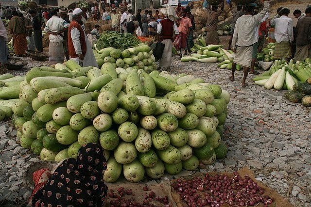 Discovering new vegetables in a Bangladesh market