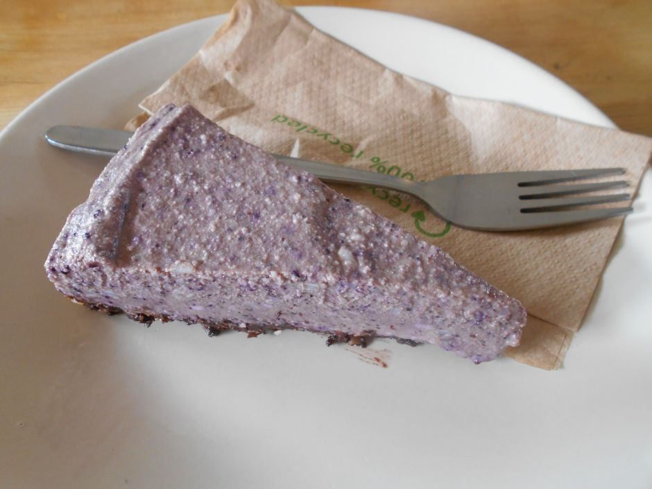 Berry Cheesecake at the Veg Box Café