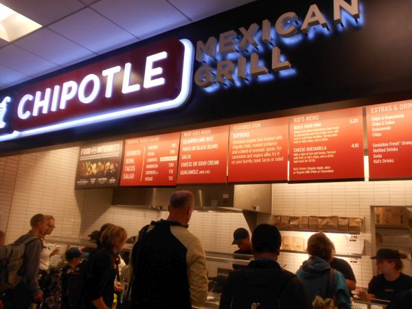 Chipotle Mexican Grill  - vegan food in the Atlanta Airport