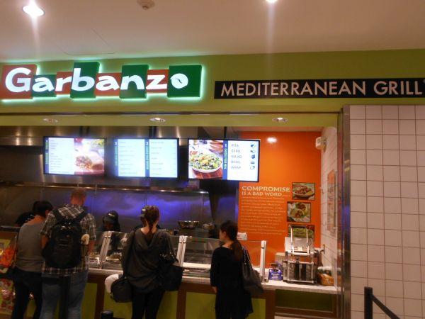 Garbanzo Mediterranean Grill - vegan food in the Atlanta Airport
