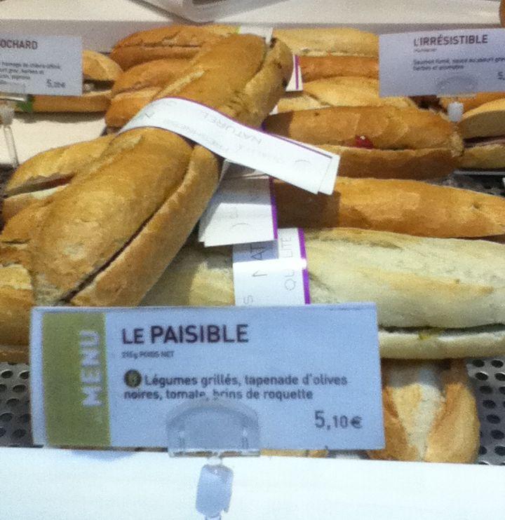Vegan sandwich in Gare St. Lazare Paris - vegan in Normandy