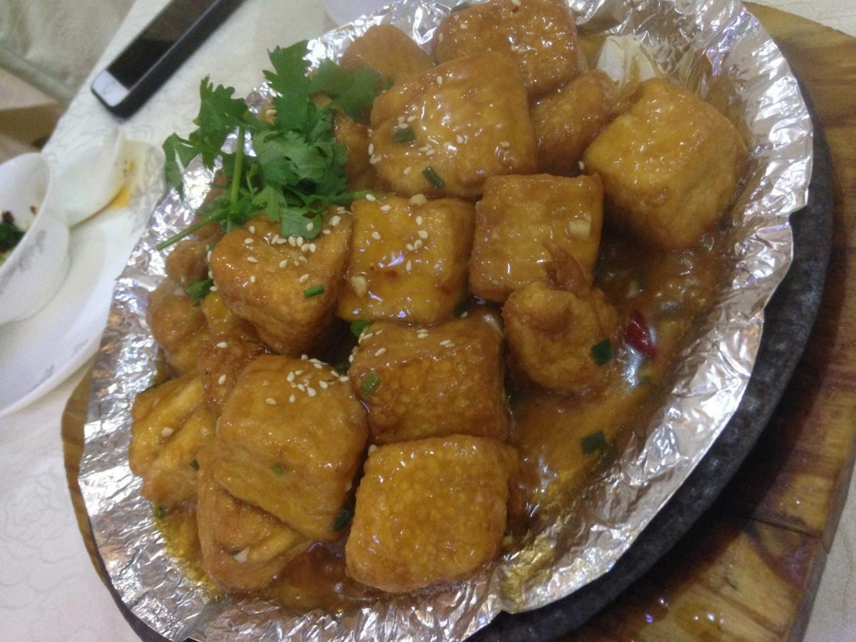 Chinese tofu - how to be vegan in Tajikistan