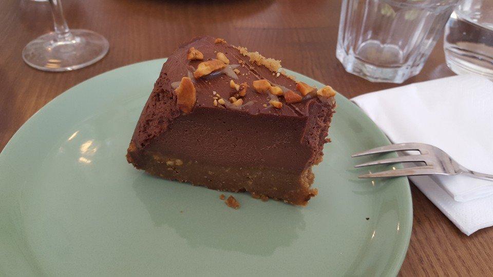 Ou Bien Encore Chocolate Caramel Cake - Vegan Food in Geneva