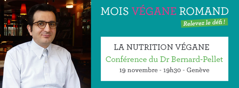 Conference plant-based nutrition Dr. Jérôme Bernard-Pellet - World Vegan Month Switzerland