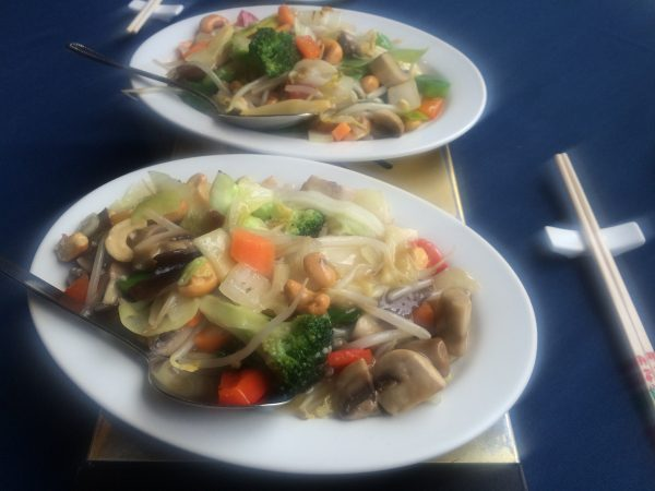Chinese food in Hexham - vegan hike along Hadrian's Wall