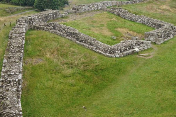 Milecastle at Hadrian's Wall vegan hike