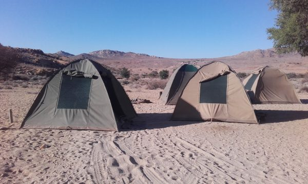 Tents - tour of Namibia