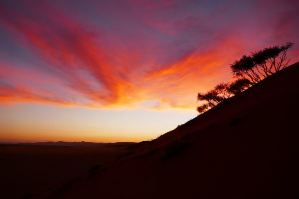 sunset - tour of Namibia