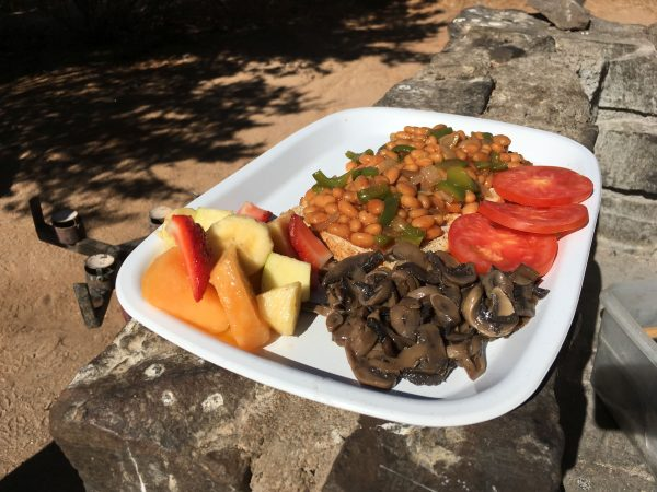 breakfast - tour of Namibia