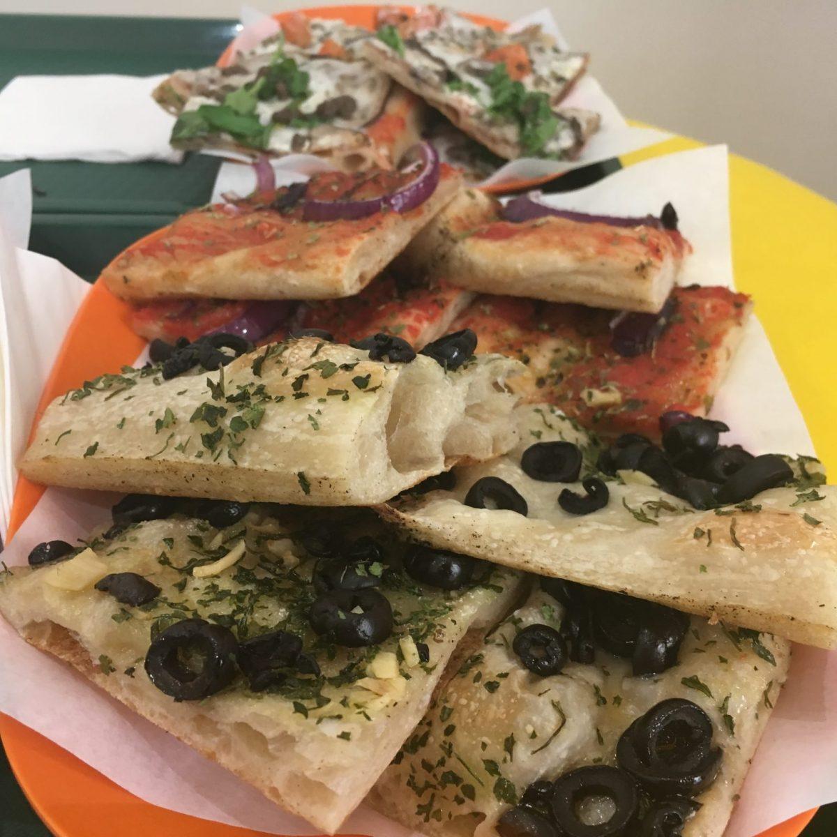 pizza al taglio - fast food pizza in Italy