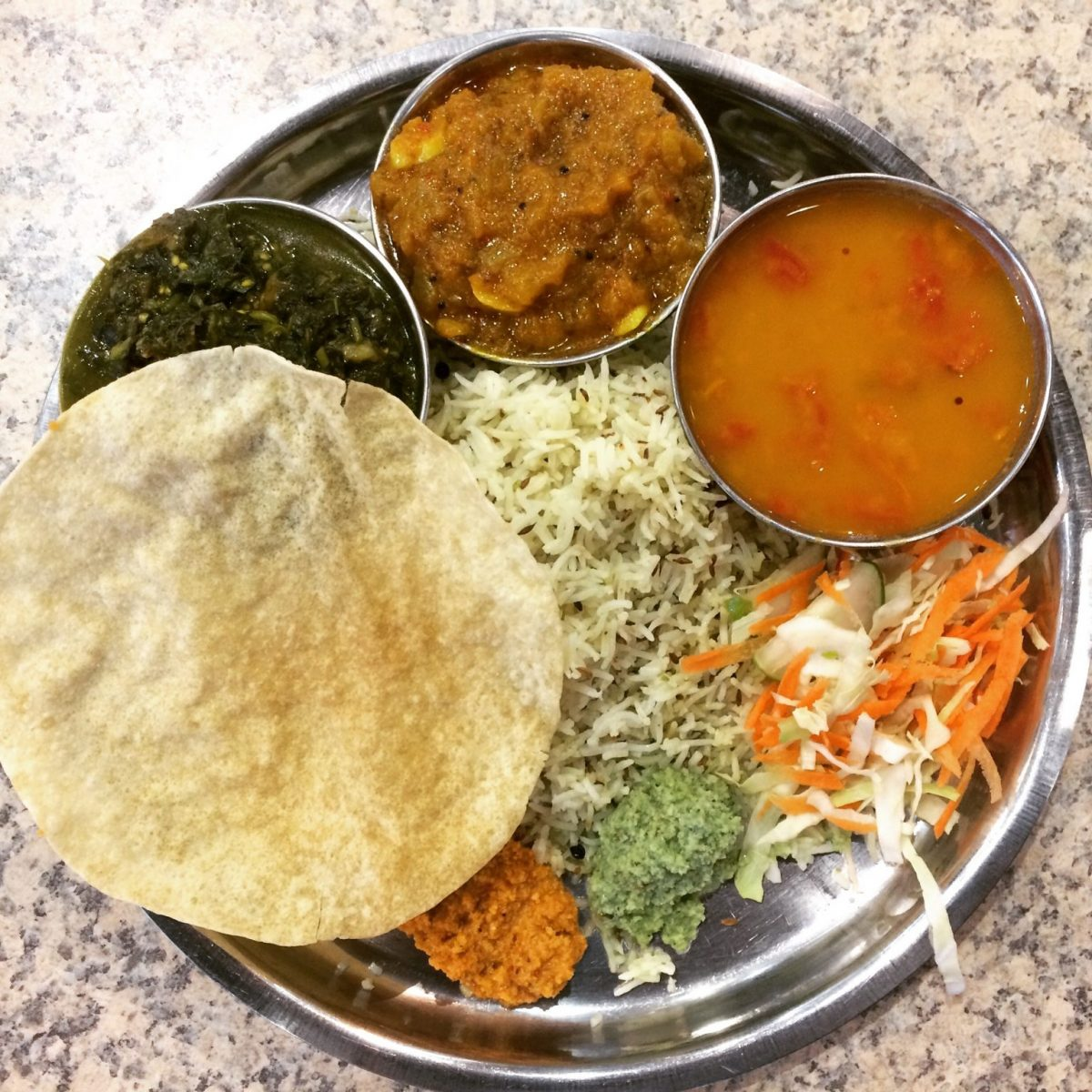 Veg thali at one of the best restaurants in Fiji for Indian food
