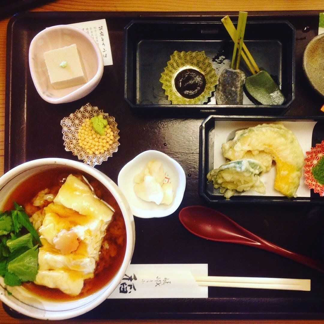 Kaiseki meal at Arashiyama Bamboo Forest - vegan in Japan