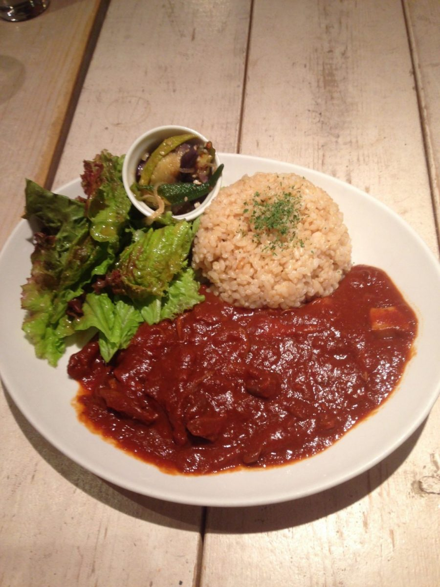 Rice with tempeh at Ain Soph Journey - vegan in Japan