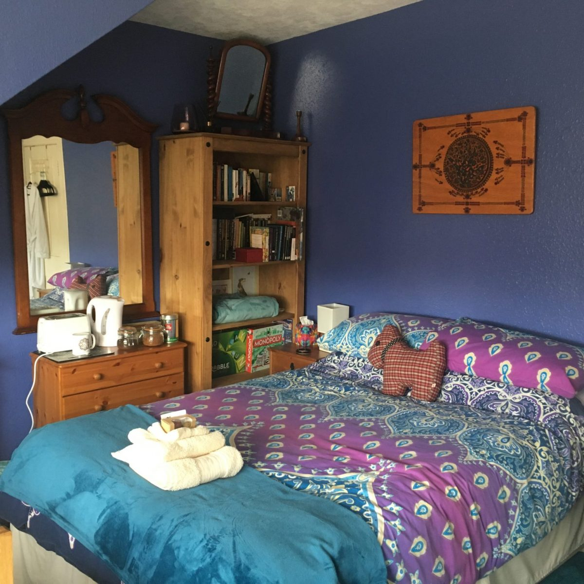 Double room at The Cosy Vegan B&B