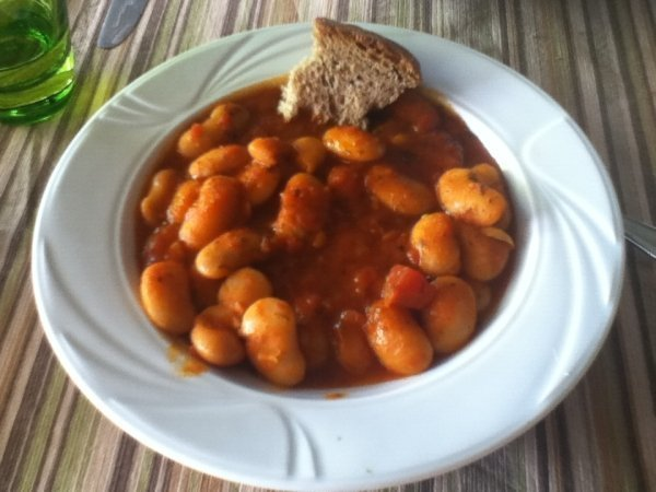 Gigantes - Big Beans - traditional Greek vegan dish