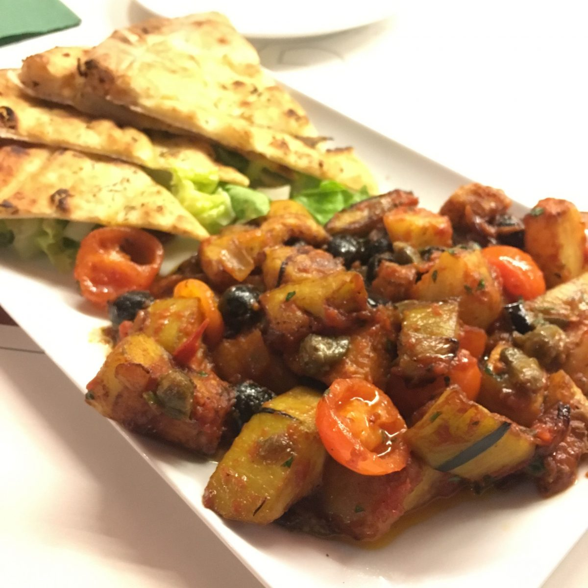 Caponata - a delicious vegan side dish in Italy