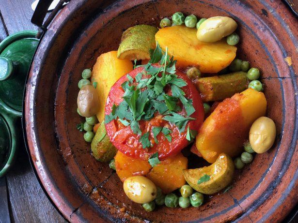 vegan tagine in Morocco