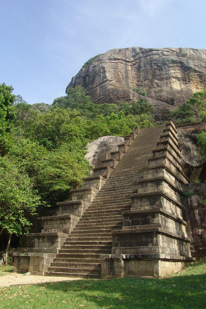Staircase in Yapahuwa Sri Lanka