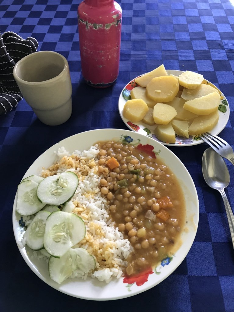 Homecooked vegan food in Cuba