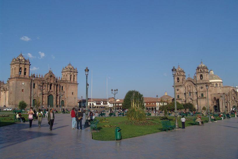 The Beautiful Main Plaza of Cusco Peru