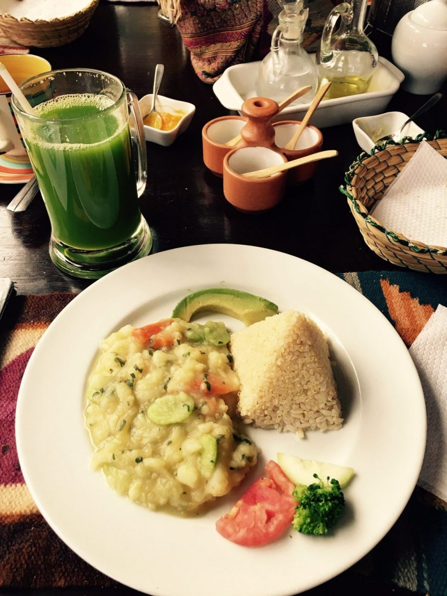 Quinoa and Refried Peruvian Beans - Vegan Cusco