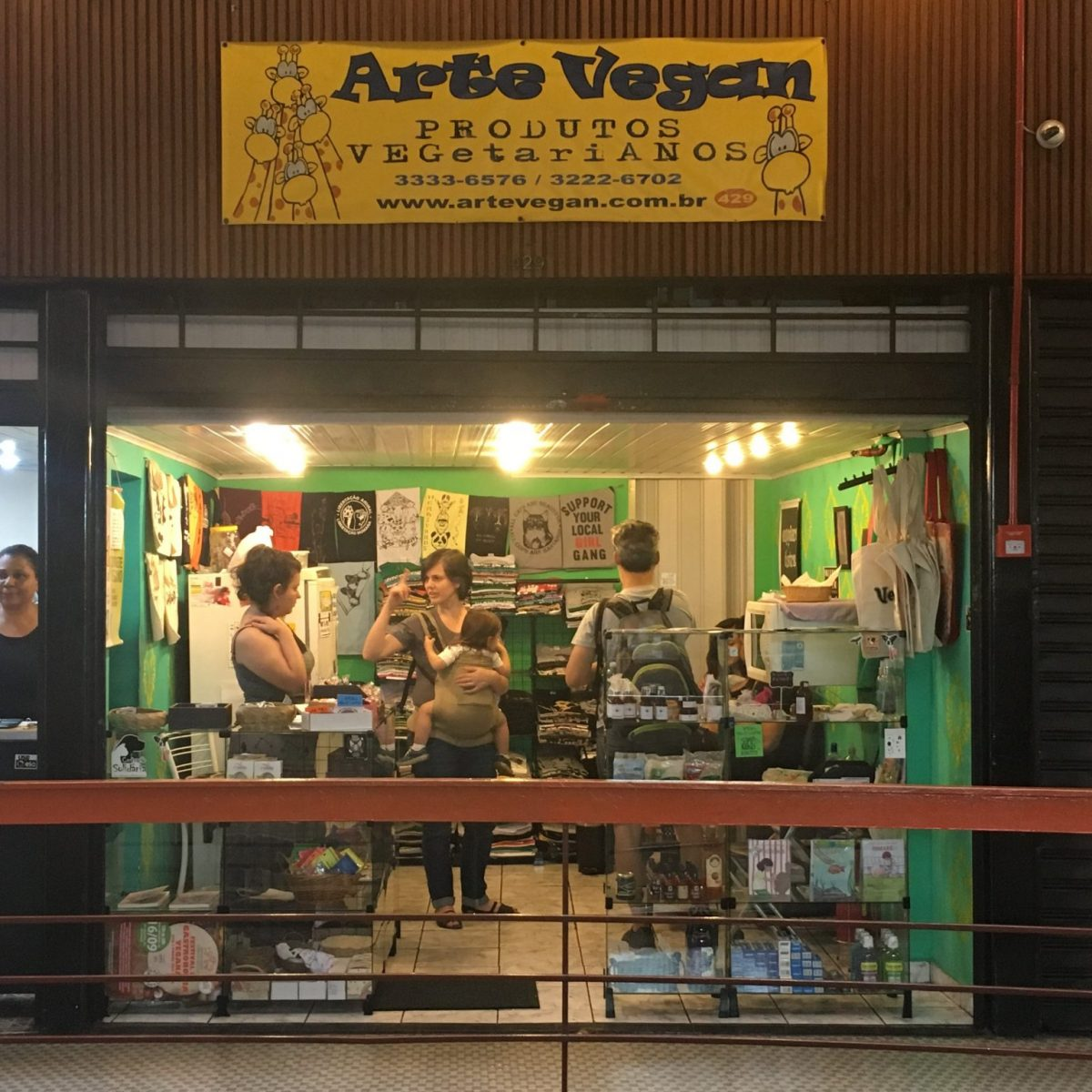 Arte Vegan Store in the Galeria do Rock in Sao Paulo