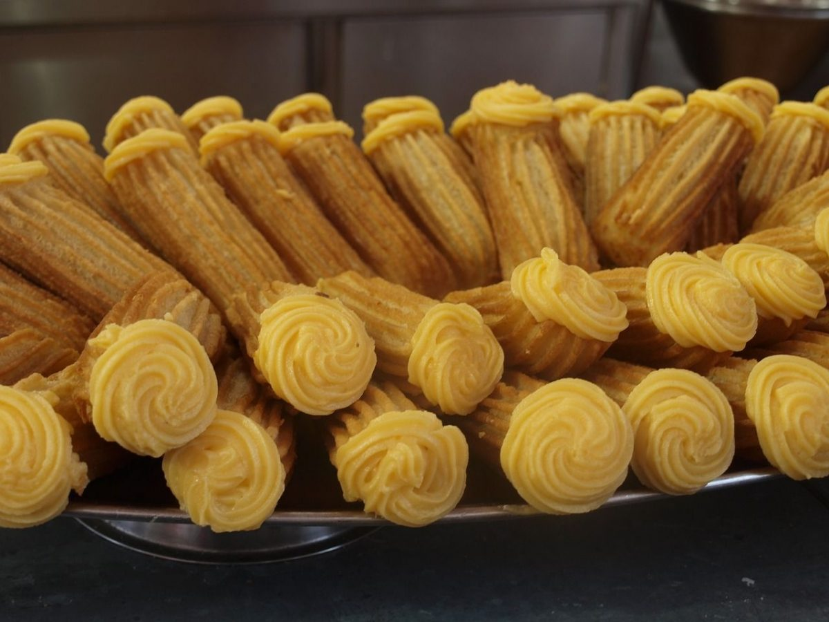 Churros with filling. Most fillings aren't vegan, though you might find guava or other fruits.