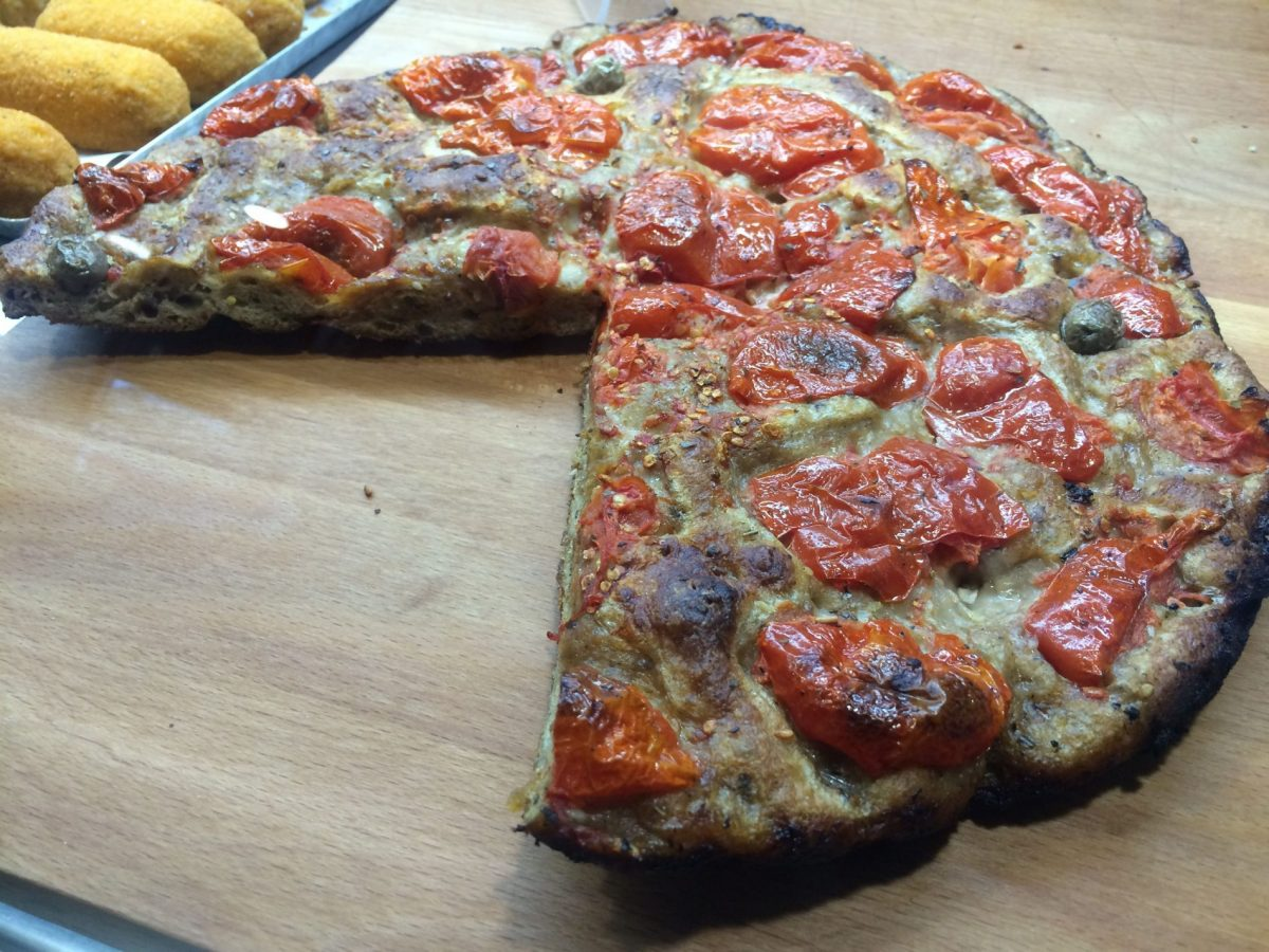 Focaccia barese -- another region Puglia is the best place in Italy for food