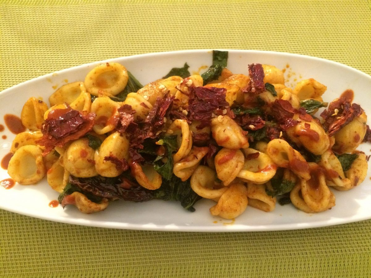 Orecchiette con cime di rapa -- southern Italian food at its best
