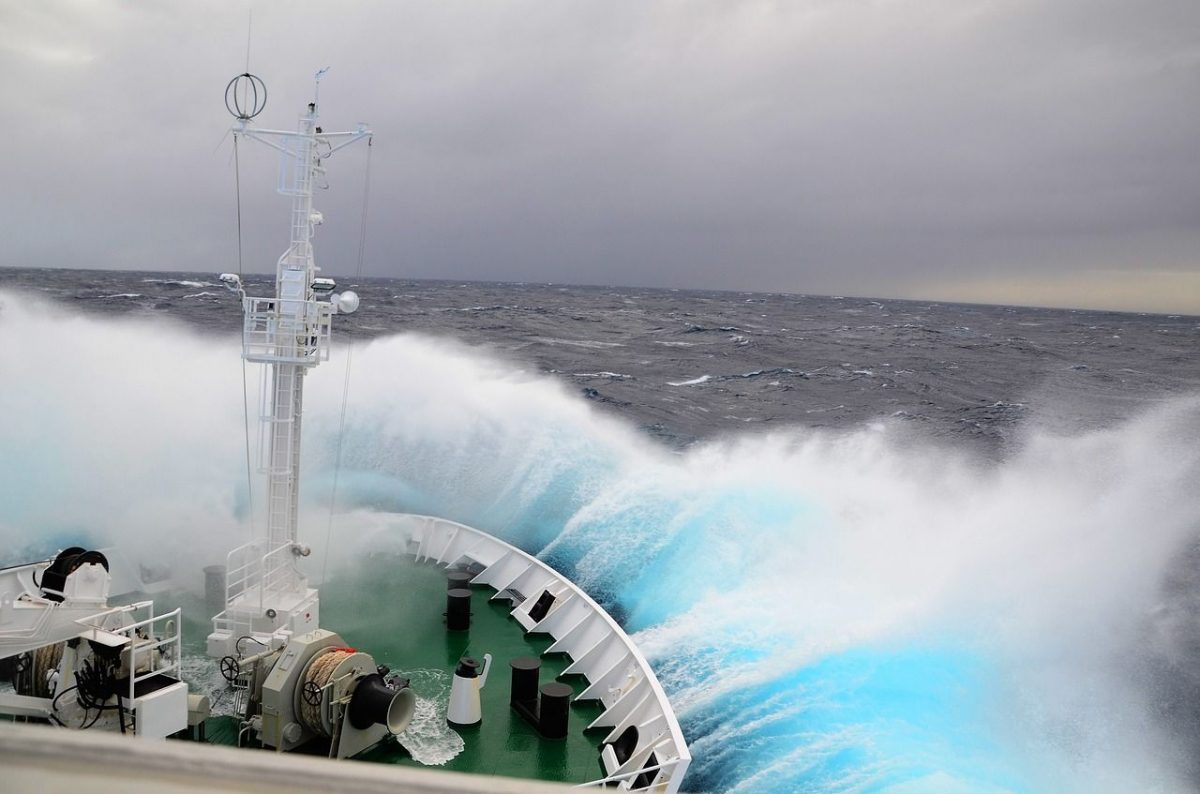 The seas are normally quite rough when crossing the Drake Passage on an Antarctica cruise