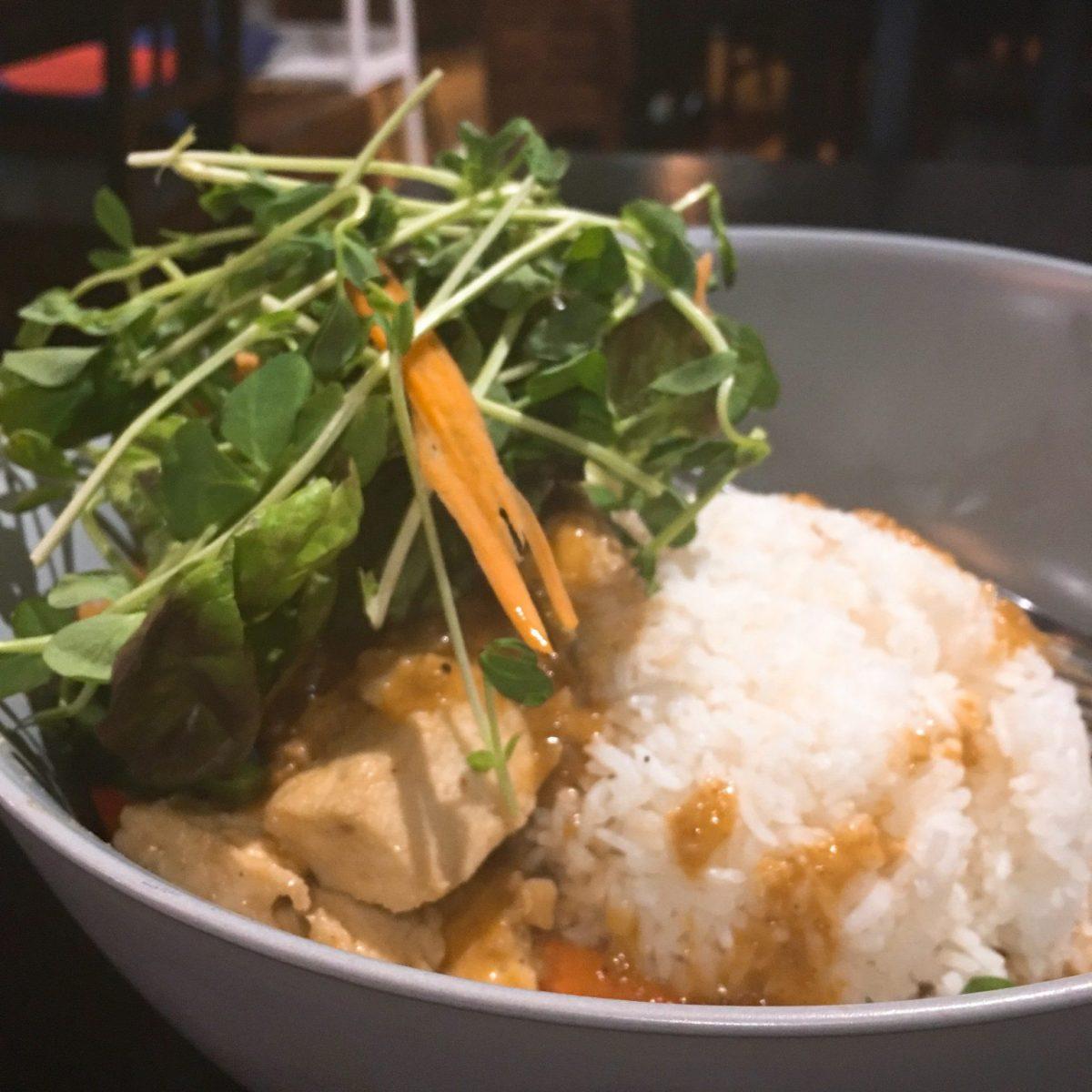 Tofu in satay sauce at Boss Noodles