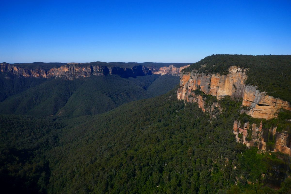 The view of Grose Valley from Govetts Leap in the Blue Mountains