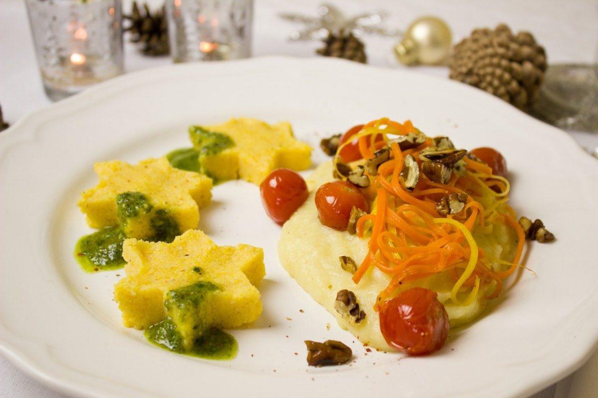 Mamaliga - a common staple dish that's perfect for a vegan in Romania